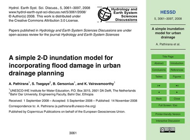 A Simple 2-d Inundation Model for Incorp... by Pathirana, A.