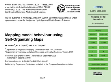 Mapping Model Behaviour Using Self-organ... by Herbst, M.
