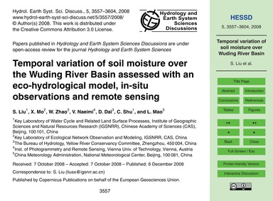 Temporal Variation of Soil Moisture Over... by Liu, S.