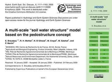 A Multi-scale ''Soil Water Structure'' M... by Braudeau, E.