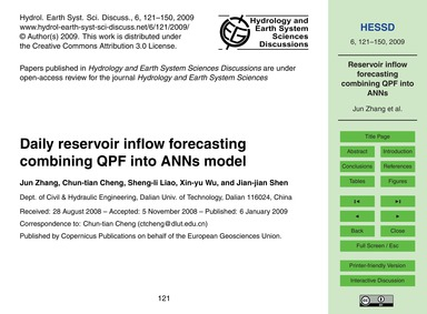 Daily Reservoir Inflow Forecasting Combi... by Jun Zhang