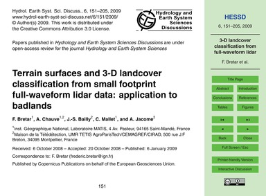 Terrain Surfaces and 3-d Landcover Class... by Bretar, F.
