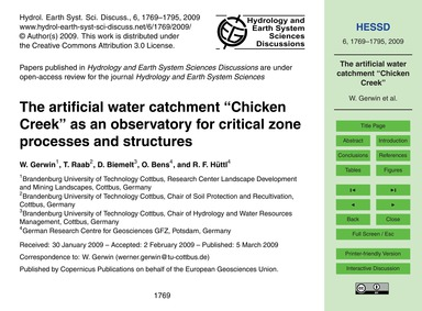 The Artificial Water Catchment Chicken C... by Gerwin, W.