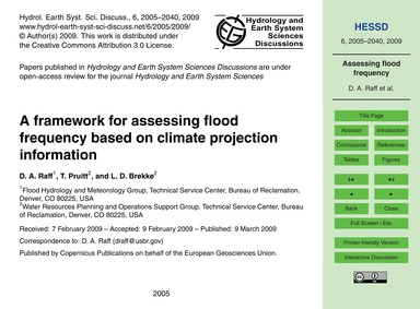 A Framework for Assessing Flood Frequenc... by Raff, D. A.