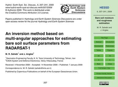 An Inversion Method Based on Multi-angul... by Sahebi, M. R.