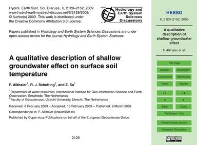 A Qualitative Description of Shallow Gro... by Alkhaier, F.
