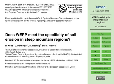 Does Wepp Meet the Specificity of Soil E... by Konz, N.