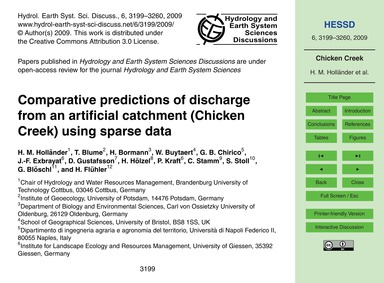 Comparative Predictions of Discharge fro... by Holländer, H. M.
