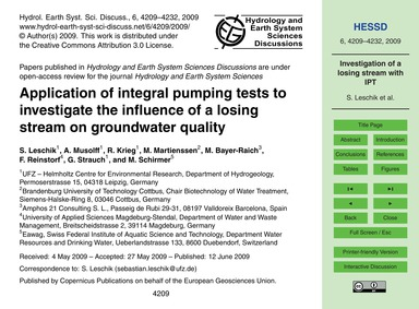 Application of Integral Pumping Tests to... by Leschik, S.