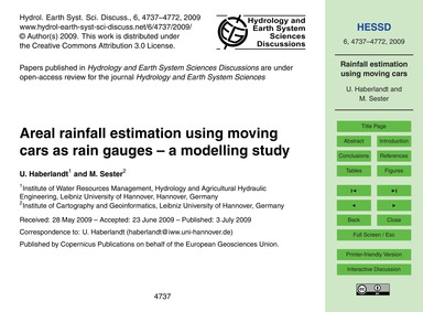 Areal Rainfall Estimation Using Moving C... by Haberlandt, U.