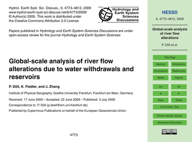Global-scale Analysis of River Flow Alte... by Döll, P.
