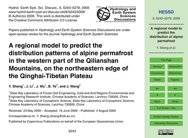 A Regional Model to Predict the Distribu... by Sheng, Y.