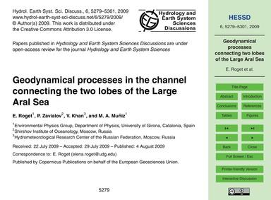 Geodynamical Processes in the Channel Co... by Roget, E.