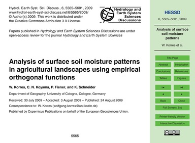 Analysis of Surface Soil Moisture Patter... by Korres, W.
