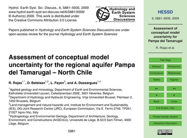 Assessment of Conceptual Model Uncertain... by Rojas, R.