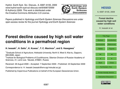 Forest Decline Caused by High Soil Water... by Iwasaki, H.