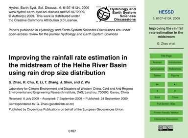 Improving the Rainfall Rate Estimation i... by Zhao, G.