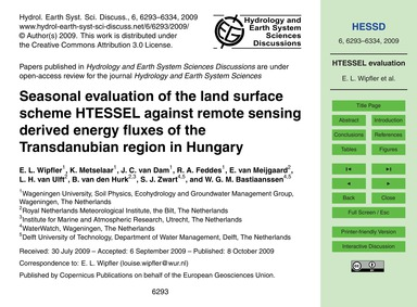 Seasonal Evaluation of the Land Surface ... by Wipfler, E. L.