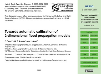 Towards Automatic Calibration of 2-dimen... by Fabio, P.