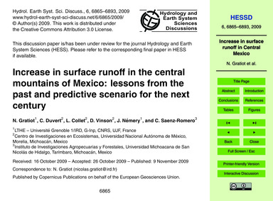 Increase in Surface Runoff in the Centra... by Gratiot, N.