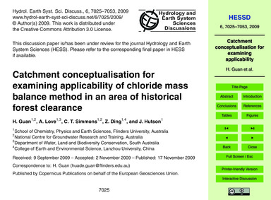 Catchment Conceptualisation for Examinin... by Guan, H.