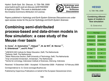 Combining Semi-distributed Process-based... by Corzo, G.