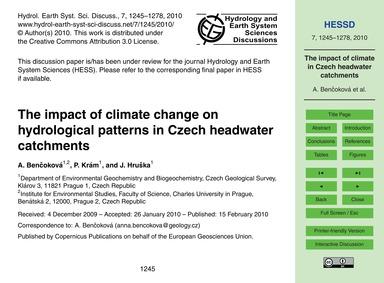 The Impact of Climate Change on Hydrolog... by Benčoková, A.