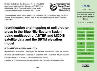 Identification and Mapping of Soil Erosi... by El Haj Tahir, M.