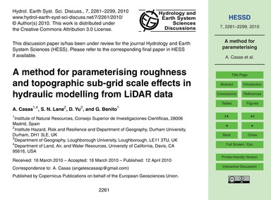 A Method for Parameterising Roughness an... by Casas, A.
