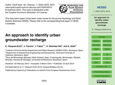 An Approach to Identify Urban Groundwate... by Vázquez-suñé, E.