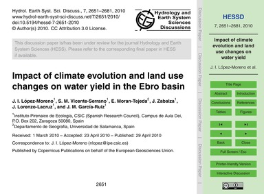 Impact of Climate Evolution and Land Use... by López-moreno, J. I.