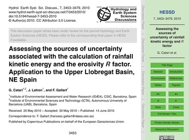 Assessing the Sources of Uncertainty Ass... by Catari, G.