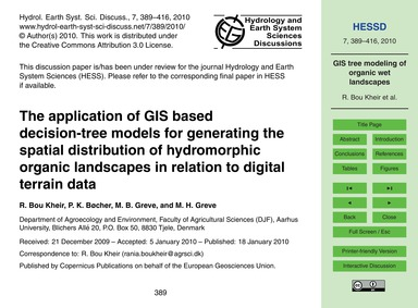 The Application of Gis Based Decision-tr... by Bou Kheir, R.