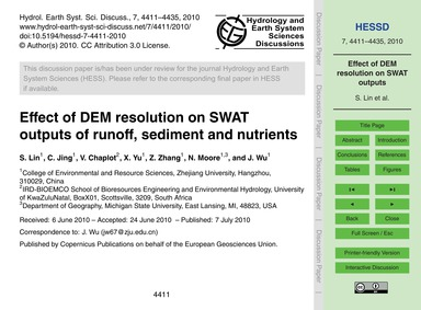 Effect of Dem Resolution on Swat Outputs... by Lin, S.