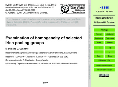 Examination of Homogeneity of Selected I... by Das, S.
