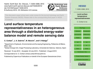 Land Surface Temperature Representativen... by Corbari, C.