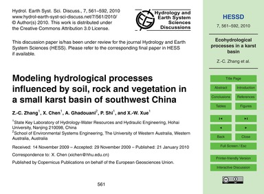 Modeling Hydrological Processes Influenc... by Zhang, Z.-c.