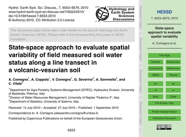 State-space Approach to Evaluate Spatial... by Comegna, A.