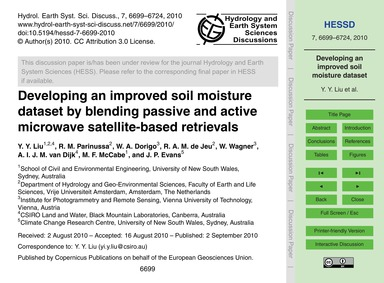 Developing an Improved Soil Moisture Dat... by Liu, Y. Y.