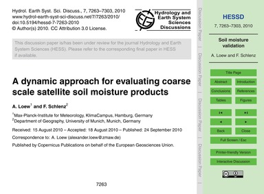 A Dynamic Approach for Evaluating Coarse... by Loew, A.