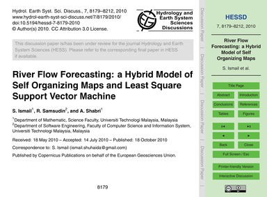 River Flow Forecasting: a Hybrid Model o... by Ismail, S.