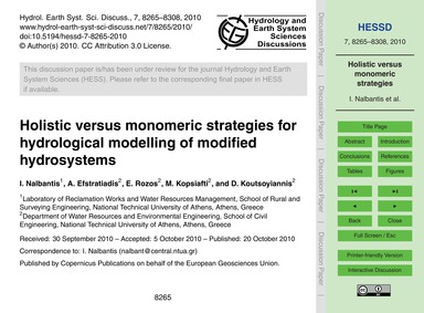 Holistic Versus Monomeric Strategies for... by Nalbantis, I.