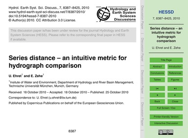 Series Distance – an Intuitive Metric fo... by Ehret, U.