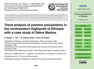 Trend Analysis of Extreme Precipitation ... by Shang, H.