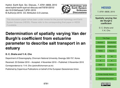 Determination of Spatially Varying Van D... by Shaha, D. C.