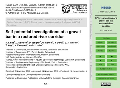 Self-potential Investigations of a Grave... by Linde, N.