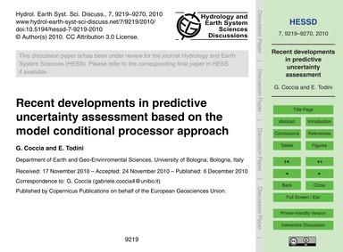 Recent Developments in Predictive Uncert... by Coccia, G.