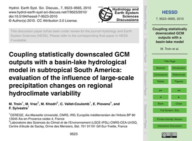 Coupling Statistically Downscaled Gcm Ou... by Troin, M.