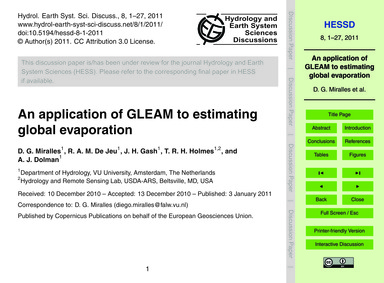 An Application of Gleam to Estimating Gl... by Miralles, D. G.