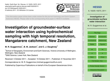 Investigation of Groundwater-surface Wat... by Guggenmos, M. R.